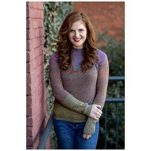American Apparel Sweater Rainbow Sunset Melange M